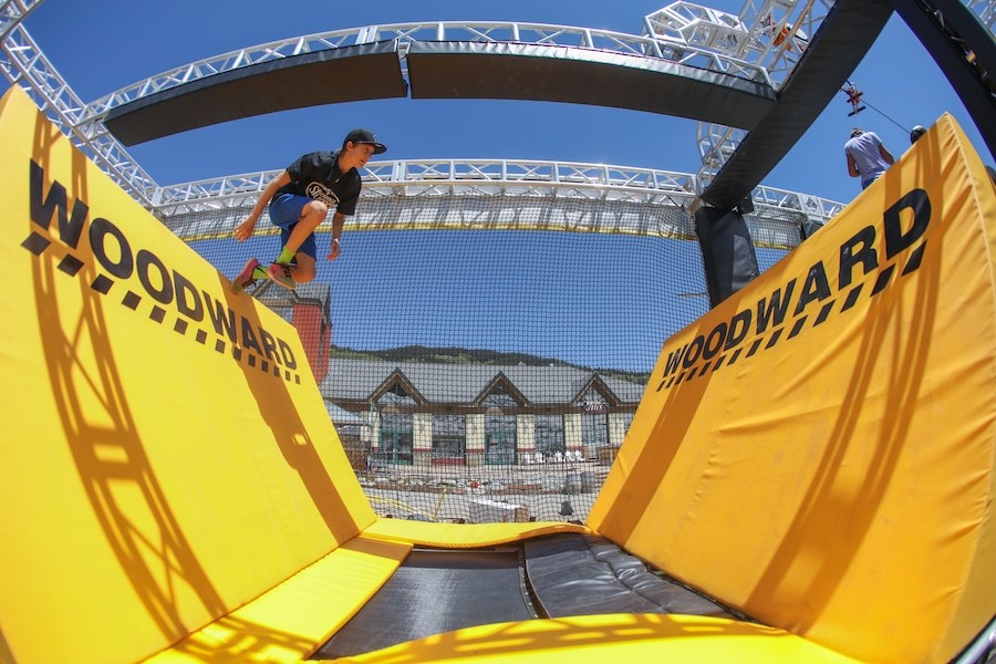 The WreckTangle has ten obstacles, which can be swapped out and changed, including a quarter pipe finish. (Woodward)