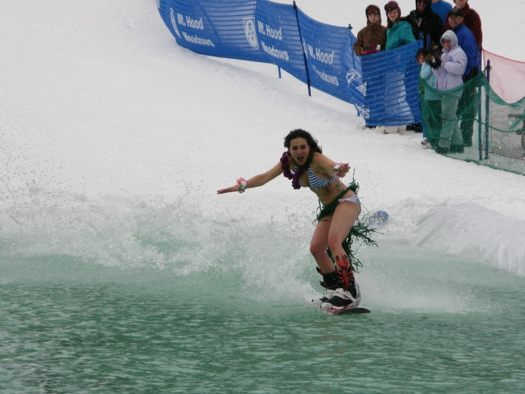 Big Sky pond skim is a popular spectator event. (Big Sky/Facebook)