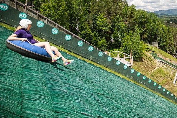 Summer thrills on the tubing hill. (Whiteface)