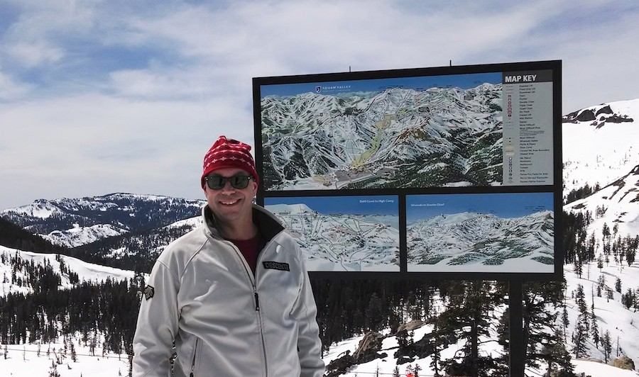 Milliken introduced the ski industry to the process of using large format digital vinyl graphics to reproduce large on-mountain maps. (Gary Milliken)
