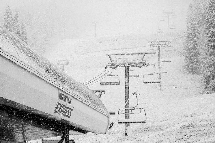 Snow piling up at Purgatory in Durango, Colorado. (Purgatory Resort)