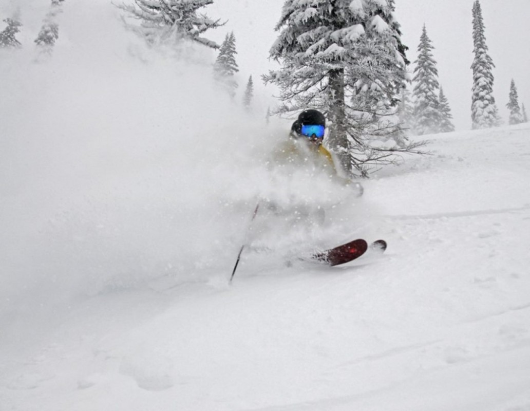 Nearly a foot of new snow through midweek on the slopes at Schweitzer. (Schweitzer Mountain/Facebook)