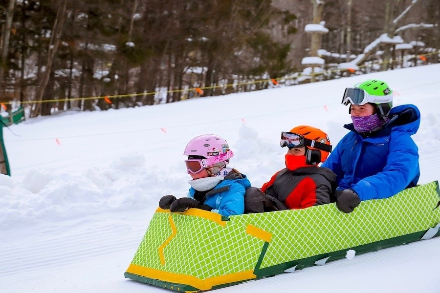 The kids show off their creativity at the Jiminy Peak Cardboard Box Derby. (Jiminy Peak)