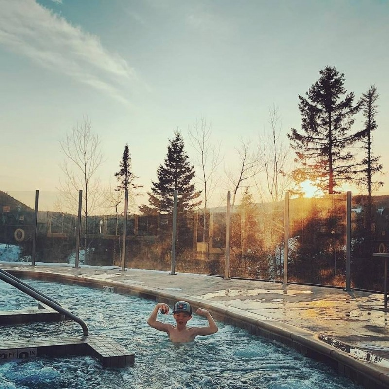 Lutsen Mountains will most likely ski weekends into May. Enjoy some pool time after a day on the slopes. That's what April is all about. (Lutsen Mountains/Facebook)