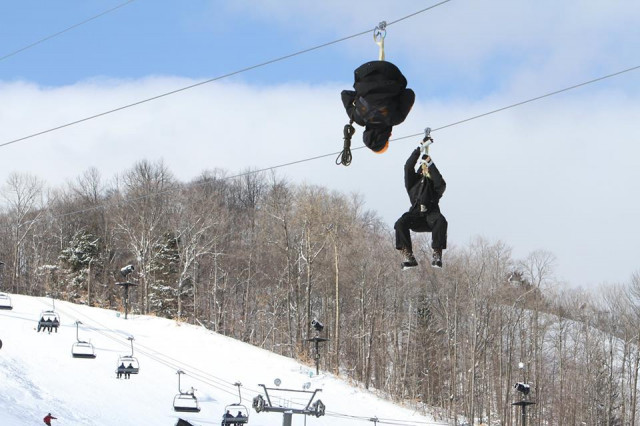 Boyne-Highlands-double-zipline-single-ride
